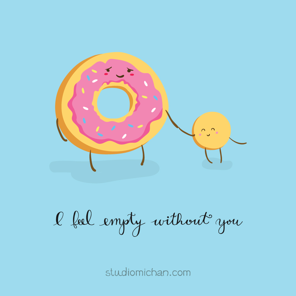Studio Michan: I feel empty without you - donut and hole