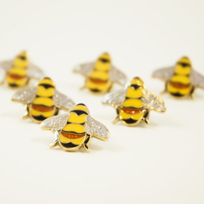 Rusty Patched Bumble Bee hard enamel lapel pin